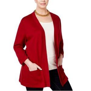 Karen Scott Plus Size Open-Front Cardigan Sweater